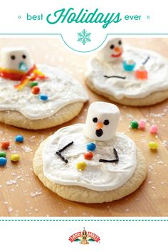 The little ones will love decorating these whimsical snowmen.