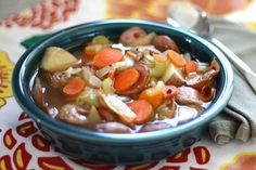 Barefeet In The Kitchen: Applewood Smoked Sausage Stew with Roasted Potatoes