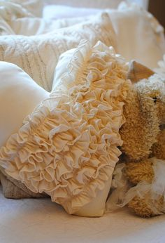 Dear Lillie ruffle pillow