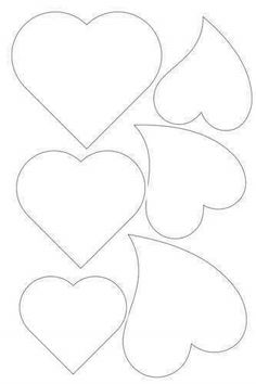 Heart template - Photo from album Шаблоны on – Heart template Applique Templates, Applique Patterns, Applique Designs, Heart Template, Flower Template, Felt Patterns, Craft Patterns, Valentine Crafts, Valentines