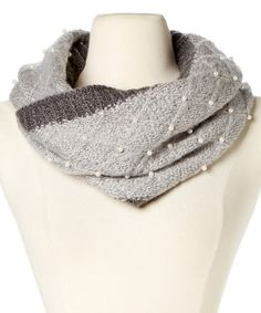 Look what I found on #zulily! Charcoal Beaded Infinity Scarf by Betsey Johnson #zulilyfinds