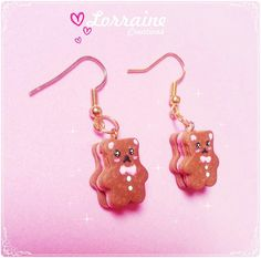 "Aretes ""Bear cookies"" $35"