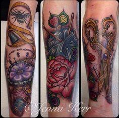 21 Beautiful Sewing And Knitting Tattoo Designs