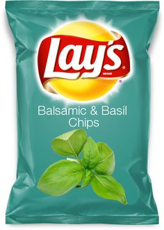 Balsamic & Basil Chips Hey I'd eat that! It's my submission for Lays Chips!