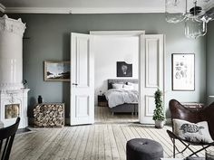 Fantastic Deco Chambre Vert De Gris that you must know, You're in good company if you're looking for Deco Chambre Vert De Gris Decor, Furniture, Home Trends, Interior, Home, Living Room Bedroom, My Scandinavian Home, Swedish Decor, Interior Design