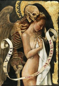 Death and the Maiden by PJ Lynch, more art inspirations and skull designs at skullspiration.com