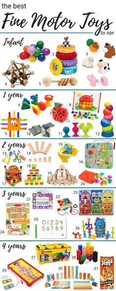 Best Fine Motor Toys for Children Best Toys for Improving Fine Motor Skills in children broken down by age. Best fine motor toys for children ages Toys for Improving Fine Motor Skills in children broken down by age. Best fine motor toys for children ages Toddler Play, Baby Play, Best Toddler Toys, Baby Boy Toys, Best Baby Toys, Fun Baby, Diy Bebe, Baby Development, Toddler Learning