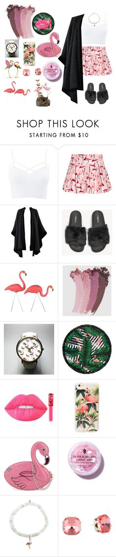 """Flamingo's Babe 🌂"" by fashion-baby13 ❤ liked on Polyvore featuring Charlotte Russe, RED Valentino, Yves Saint Laurent, The White Brand, Gucci, LaMont, Lime Crime, Skinnydip, In Your Dreams and Sydney Evan"