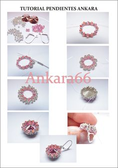 Ankara: TUTORIAL PENDIENTES ANKARA:2 rívolis de 14mm, rocalla del 11, rocalla del 15, 22 tupis de 3mm