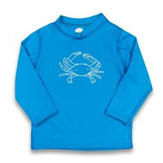 Kinda Crabby Long Sleeve Rash Guard UPF 50+