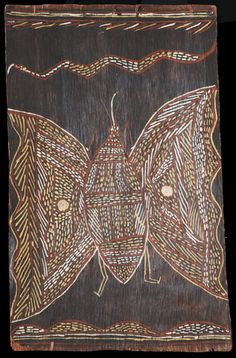 Butterfly. Mangangina. 1958. Bark painting.