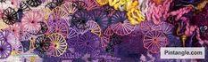 Buttonhole wheel stitch sample 2