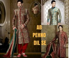 The WILDEST Collection of Groom's Sherwani only available at #MenWeddingWear #AbPehnoDilSe  http://bit.ly/2go9plm
