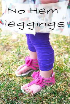 No Hem Leggings, genious and it seems easy enough. No more buying lace leggings!