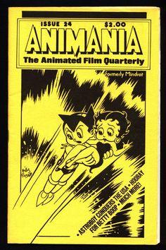 ANIMANIA #5 MINDROT #24 Betty Boop Osama Tezuka Mighty Atom Astroboy Animated Film Quarterly Animation Anime Cartoons