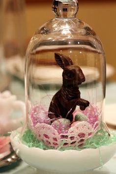 Darling bunny in a cloche!