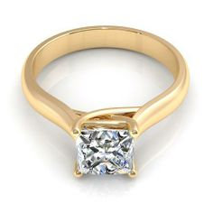 Aurella - 0.55CT princess cut diamonds solitaire ring - Yellow gold, £1,080.00 (http://www.aurella.co/0-55ct-princess-cut-diamonds-solitaire-ring-yellow-gold/)