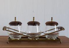 vintage mid century modern condiment set by inheritedhome