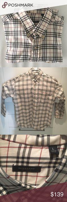 Burberry MEN'S Printed Cotton Shirt ... AUTHENTIC Never Worn. 100% cotton. Runs true to size. Burberry Shirts Dress Shirts