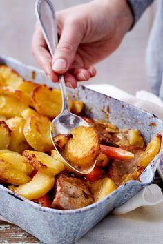 Filettöpfchen sob o capô da batata - Ofengerichte - Hamburger Meat Recipes, Pork Recipes, Chicken Recipes, Snack Recipes, Dinner Recipes, Healthy Recipes, Baked Chicken Nuggets, Potato Toppings, Healthy Eating Tips