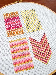 darning sampler, love the graphic look.
