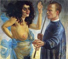Self-Portrait with Muse - Otto Dix