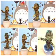 scale Potted GROOT Figure highly detailed figure, resin material, hand painted with high-quality acrylic Resin Material, Art Forms, Scale, Hand Painted, Inspiration, Weighing Scale, Biblical Inspiration, Libra, Balance Sheet