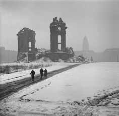 Ruins of Frauenkirche in Dresden, Germay. It was destroyed in the Allied bombing of February, 1945