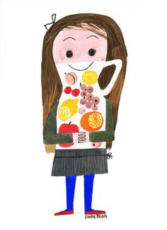 Juice Girl by Mary Blair (1950s)