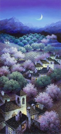 """Luis Romero """"Almonds and Olive Groves""""-Love!:"""