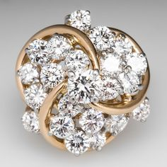Diamond Cluster Cocktail Ring.  I mean, wow.  Just. Wow.