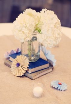 Books, flowers, and origami