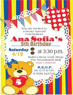 Build A Bear Invitations Birthday Image collections Invitation