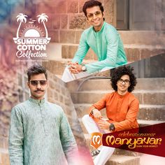 Welcome summer with wide open arms and cool cotton kurtas.  They finally had a bath - https://youtu.be/kyll7EZRBQE  for this summer collection - http://www.manyavar.com/summer-collection.html