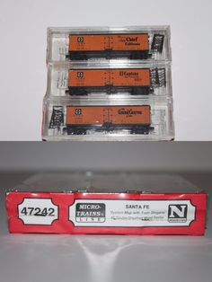 Freight Cars 69814: N Scale Mtl 47242 Santa Fe System Map With Train Slogans 3 Pack 40 Reefer Set -> BUY IT NOW ONLY: $63.99 on eBay!
