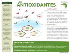Los antioxidantes y sus beneficios para la salud. #antioxidantes #infografia