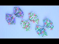 Passo a passo: Laço de fita de cetim decorado com pérolas/DIY - YouTube