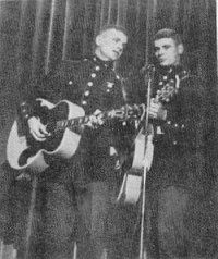 Everly Brothers (Phil and Don) enlisted in the USMC Reserves in 1961.