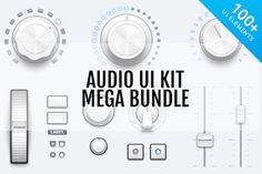 Audio UI Kit Mega Bundle by Medialoot on Creative Market