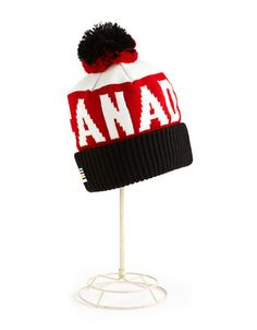 I want this hat sooo badly!! HBC Collections | Olympic Collection | Sochi 2014 Adult Canada Tuque | Hudson's Bay
