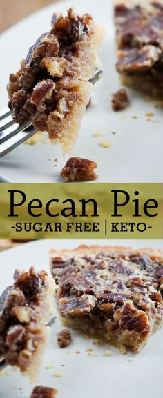 MADE THIS AND USED 3 eggs and 2 c pecans. Did not make keto crust. This incredible low carb pecan pie is sure to steal the show this holiday season Desserts Keto, Sugar Free Desserts, Sugar Free Recipes, Keto Snacks, Low Carb Recipes, Dessert Recipes, Low Carb Pecan Pie Recipe, Keto Apple Recipes, Keto Desert Recipes