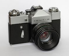 Wikipedia picture of the day on February 6 2016:  Zenit-B soviet SLR film camera with soviet Helios-44-2 lens. Learn more.