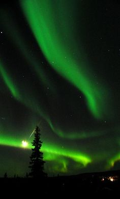 Fairbanks, Alaska - absolutely stunning green Northern light, I can hardly believe its beauty