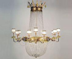 Lopez de Hierro Granada - Lámpara Imperio 12 luces plata