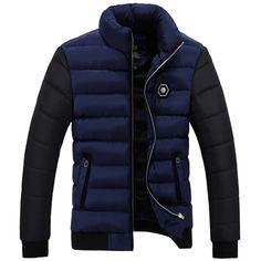 Joe Wenko Mens Spell Color Winter Faux Fur Hooded Puffer Overcoat Parka Jackets Coat