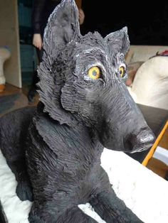 Black wolf cake, i made for my daughters 14th birthday.