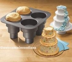 Mini cake pan! This would be lots of fun to decorate for parties.