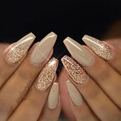 There are three kinds of fake nails which all come from the family of plastics. Acrylic nails are a liquid and powder mix. They are mixed in front of you and then they are brushed onto your nails and shaped. These nails are air dried. Gold Nail Designs, Simple Nail Art Designs, Cute Nail Designs, Nails Design, New Years Nail Designs, Salon Design, Rhinestone Nail Designs, Stiletto Nail Designs, Coffin Nail Designs