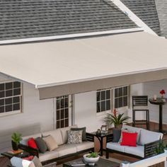 Garden Awning, Porch Awning, Outdoor Living Areas, Outdoor Rooms, Outdoor Patios, Outdoor Kitchens, Living Spaces, Outdoor Landscaping, Deck Awnings
