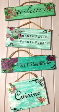Wood Crafts, Diy Crafts, Wooden Signs With Sayings, Decoupage Art, Chalkboard Signs, Beach House Decor, Craft Fairs, Rustic Wood, Art For Sale